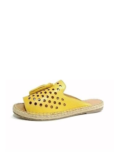 Ballerins Sandalet Sarı